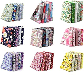 Newbested 100PCS 15 x 15cm Different Pattern Fabric Patchwork Craft Cotton DIY Sewing Scrapbooking Quilting Dot Pattern, Sewing Tissue To Patchwork.