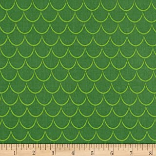 Riley Blake Designs Dragons Scales Fabric, Green, Fabric By The Yard