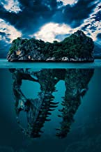 Notes: Lined Notebook | 120 Pages (6 x 9 inches) | Ruled Writing Journal With A Submerged Dinosaur Skull Secret Mystery Island Cover