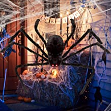 Halloween Spider Decorations for Outdoor Haunt House Halloween Indoor Home Decorations (125CM)