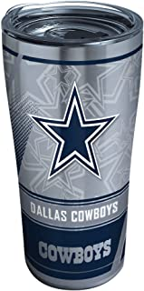 Tervis NFL Dallas Cowboys Edge Stainless Steel Tumbler with Clear and Black Hammer Lid 20oz, Silver