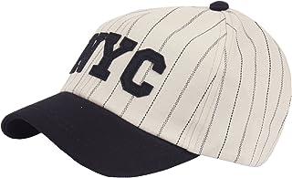 94bdc69c00c RaOn B346 NYC Stripe Check Short Bill Design Club Cute Ball Cap Baseball  Hat Truckers