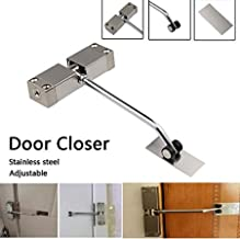 m·kvfa Adjustable Automatic Strength Spring Door Closer Hinge Fire Rated Door Channel for Home Office Hotel Room Doors
