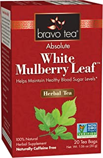Bravo Tea, White Mulberry Leaf Tea, Caffeine Free, 20 Tea Bags