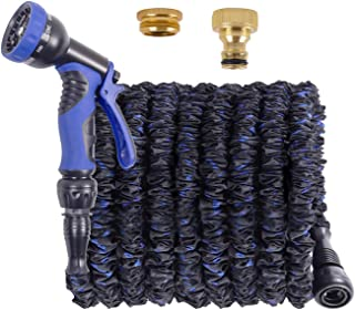 Expandable Garden Hose 100FT 3 Times Magic Hose Pipe - with 9 Function Spray Gun/Brass Fittings/Quick Connector, Durable& ...