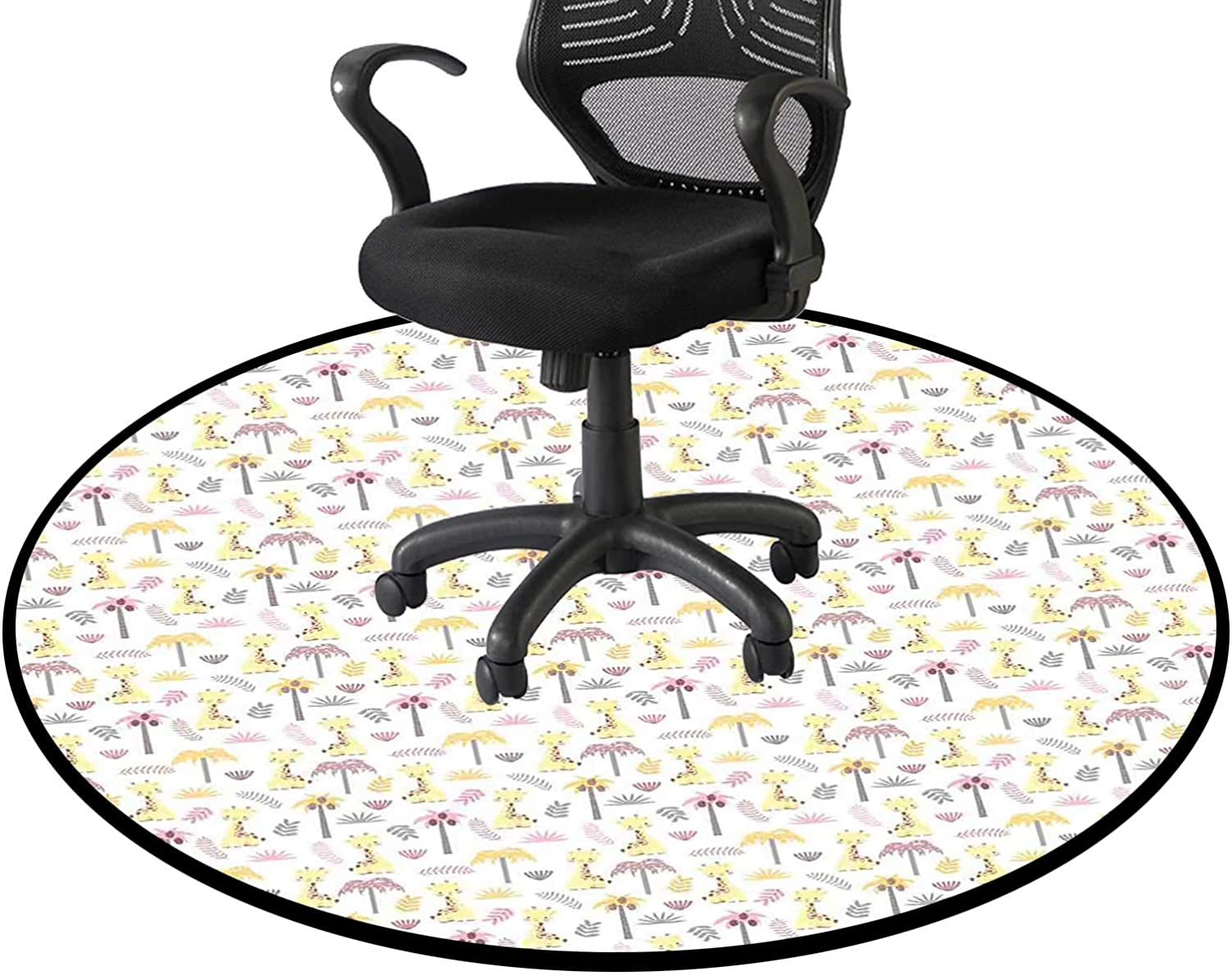 Young Giraffes 2021new shipping free shipping Palm Trees Office Chair Mat Selling rankings Multi-Purpose Swivel