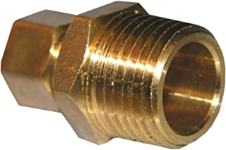 LASCO 17-6837 3/8-Inch Compression by 1/2-Inch Male Pipe Thread Brass Adapter