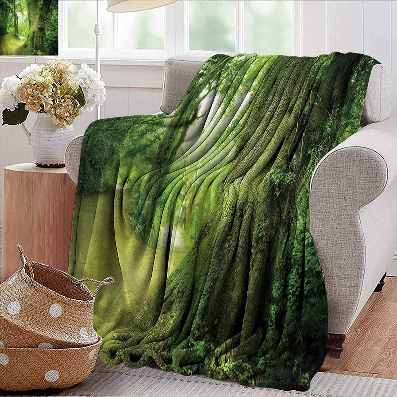 Xaviera Doherty Weighted Blanket Adult Fairy,Wilderness Fantasy Theme Super Soft Faux Fur Plush Decorative Blanket 35 x60