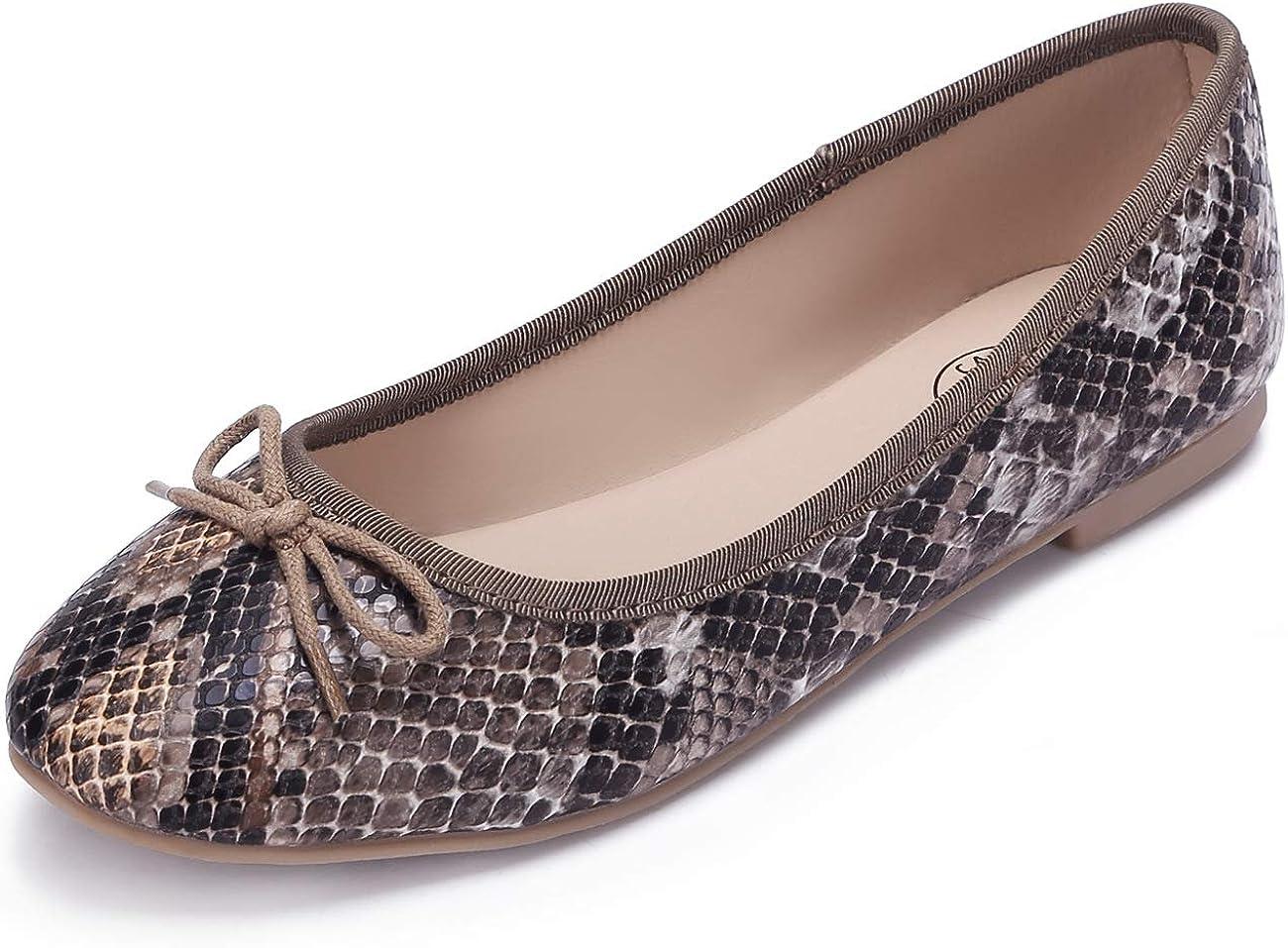 CAMEL CROWN Virginia Beach Mall Flat Shoes for Women Bowknot Dress Slip Popular brand Fau on