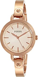 Women's Classic Minute Quartz Watch with Stainless-Steel-Plated Strap, Rose Gold, 8 (Model: BQ3026)