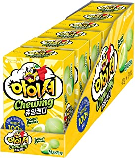 Orion Sour Chewing Candy Green Apple 42g(pack of6) 아이셔 청사과