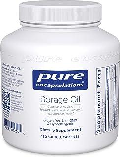 Pure Encapsulations - Borage Oil - Hypoallergenic Dietary Supplement - 180 Softgel Capsules