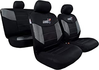 Mesh Car Seat Covers Full Set Airflow Mesh Embroidery Universal Size for Tacoma 4Runner w/Detachable Headrest