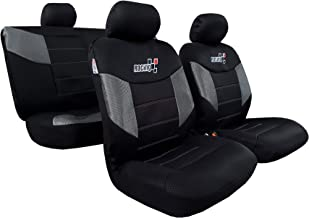 Car Seat Covers Full Set Embroidery Racing Low Bucket Seat Car Interior Accessories Universal Size for Nissan Frontier Colorado Tacoma - Cool in Summer Warm in Winter