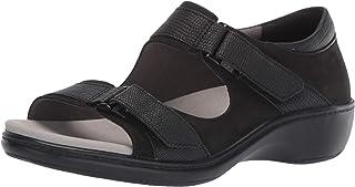 Aravon Women's Duxbury Two Strap Sandal, Black, 105 2E US