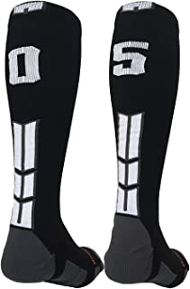 شماره جوراب MadSportsStuff Player Id Jersey با جوراب سیاه و سفید