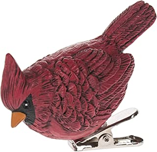 Ganz Fence Board Birdhouses - Clip On Cardinal Ornament