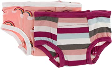 KicKee Pants Training Pants Set (3T-4T, Blush Rainbow and Geology Stripe)