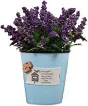 Art Street Ceramic Artificial Plant for Indoor/Outdoor, Home & Office, Garden, Restaurant, Hotel,Party Décor (H -16 cm)-Purple