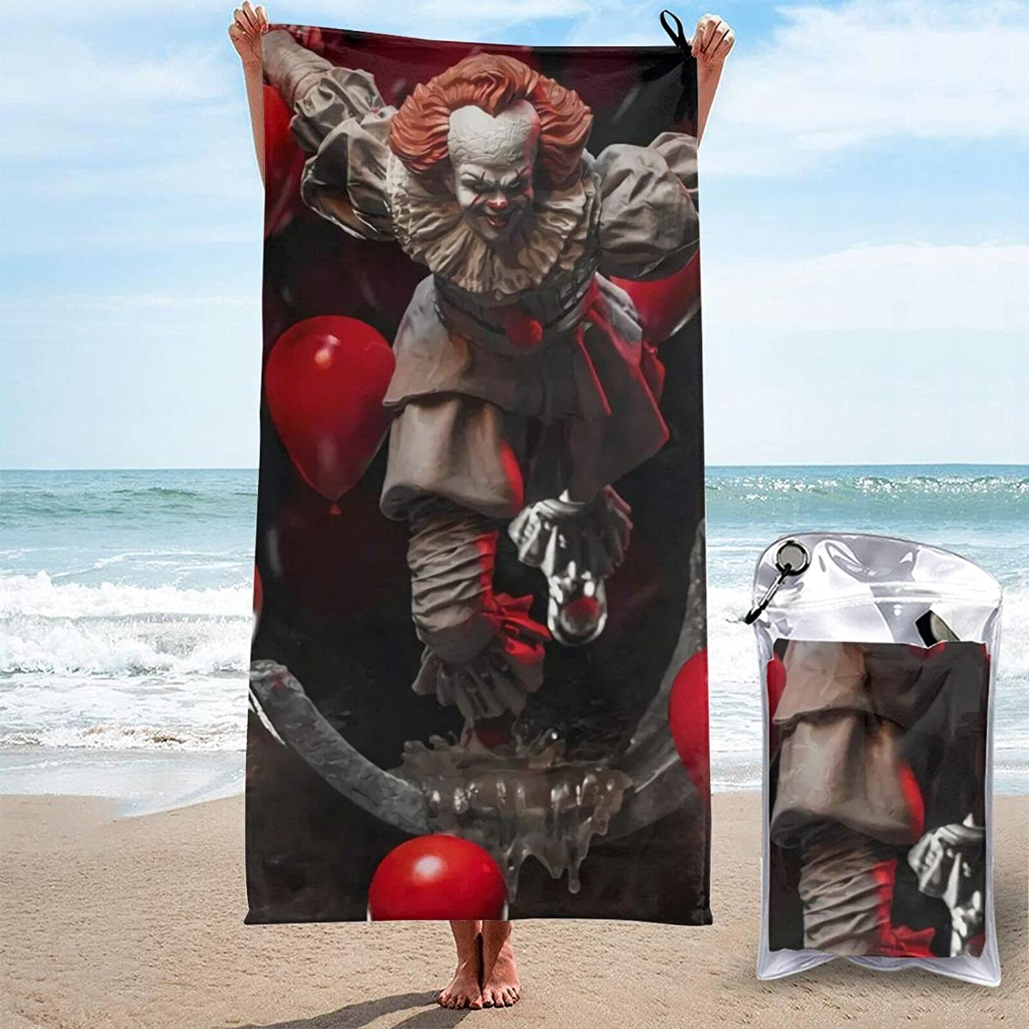 Pennywise Quick Dry Towel Beach Swimming Rare 27.5