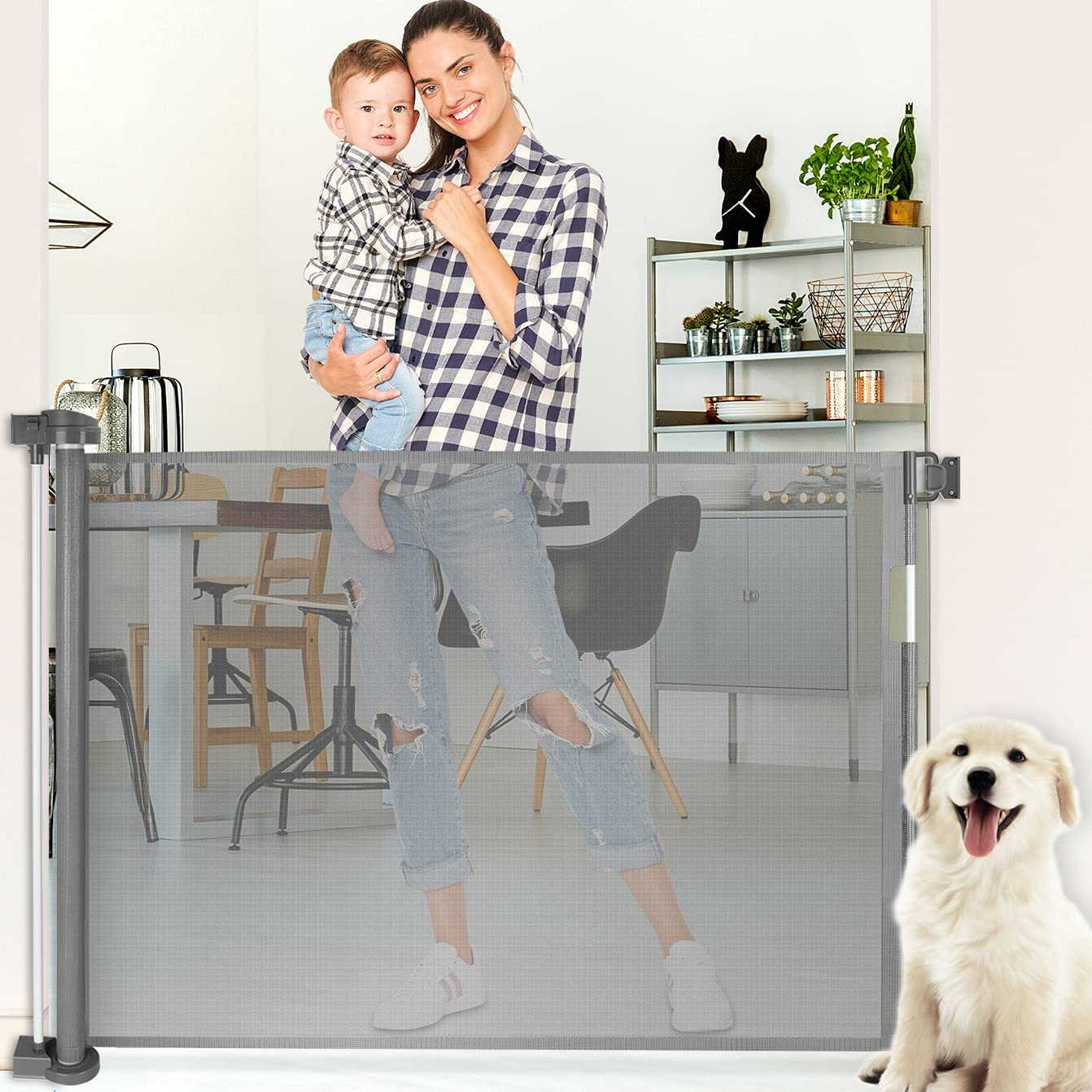 Retractable Baby Gate Extra Wide 68