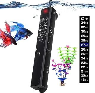 Betta Fish Tank Heater, 25W Mini Aquarium Heaters with 2 Artificial Plants 1 Stick-on..