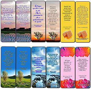 Spanish Speak Life Scripture Bookmarks About Tongue (RVR1960) (12-Pack)