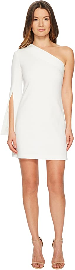 Neil Barrett One Shoulder Stretch Crepe Dress