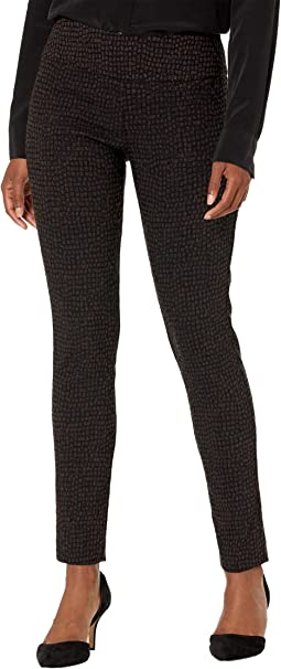 Cobblestone Pull-On Ankle Pants with Back Slit Detail