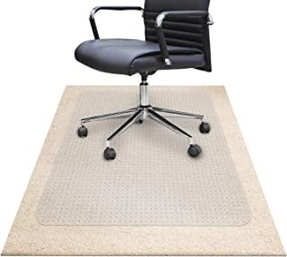 "Chair Mats for Carpeted Floors – Shatter-Proof Carpet Protector for Desk Chair | Eco-Friendly Low/Medium Pile Office Chair Mat for Carpet | Clear - 30"" x 48"""