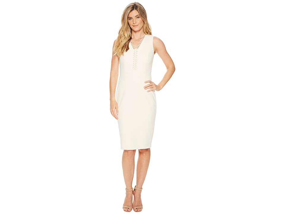 Calvin Klein Circle Neck Trim Sheath CD8C16HL (Blossom) Women