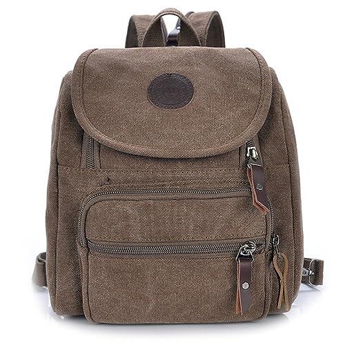 Hiigoo Multi Zipper Pocket Small Cross Body Shoulder Bag Backpack f0f8d35f926ca