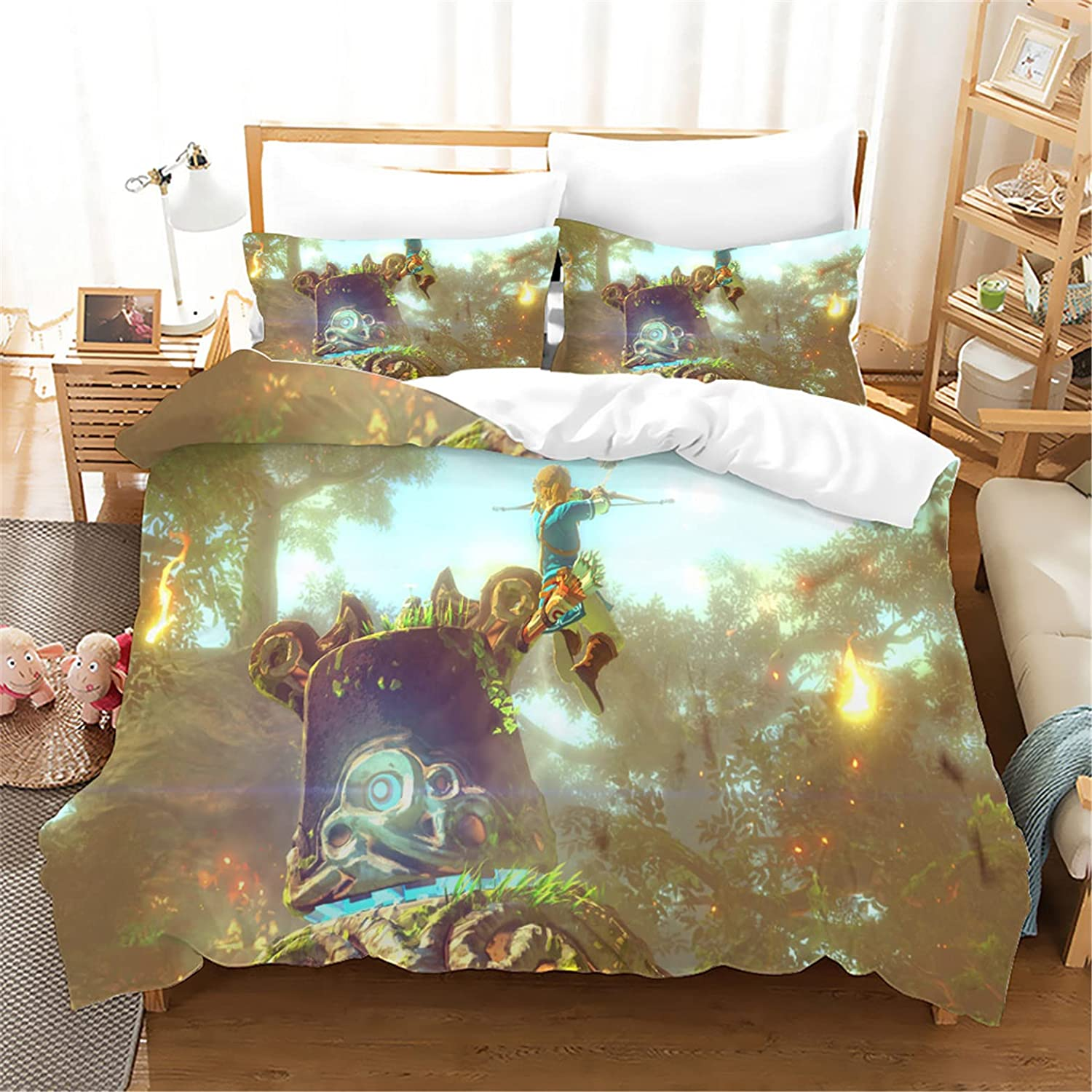 3D The Outlet ☆ Free Shipping Le-gend of Zelda Cartoons Kids Sets Duvet Pieces 2 Cheap mail order shopping Cover