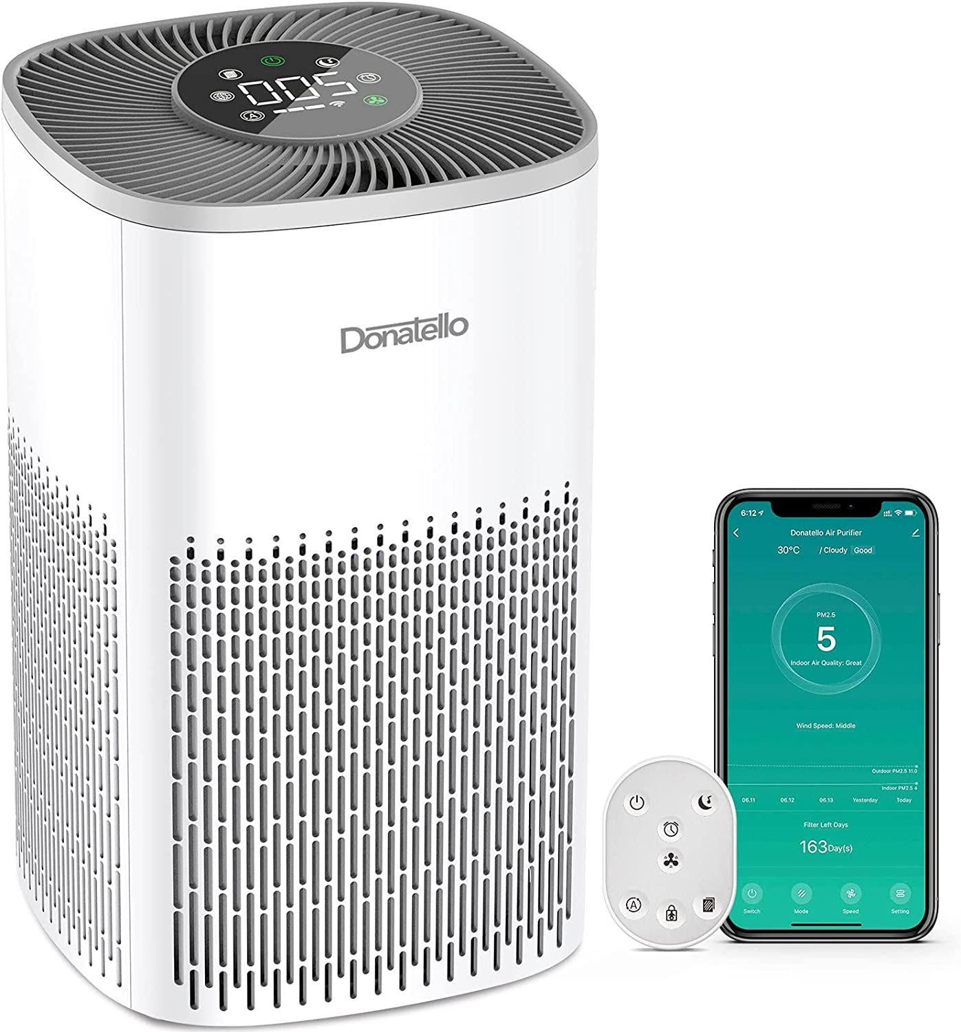 Donatello Smart Quantity limited Air Purifiers Popular popular for sq.ft Enabled Alexa Home 387