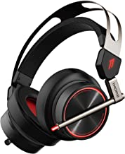 1MORE Spearhead VRX Gaming Headset for PS4 Xbox One PC Over-Ear Headphones Super Bass Headset with Waves Nx Head Tracking, 7.1 Surround Sound, LED, Dual Microphone Noise Cancellation - Black