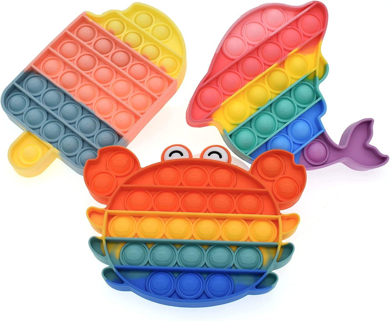 CIOOU Push Sensory Fidget Toy, Pop It Push Bubble Fidget Toys An