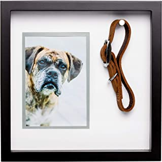 Pearhead Pet Collar Keepsake Picture Frame, Black