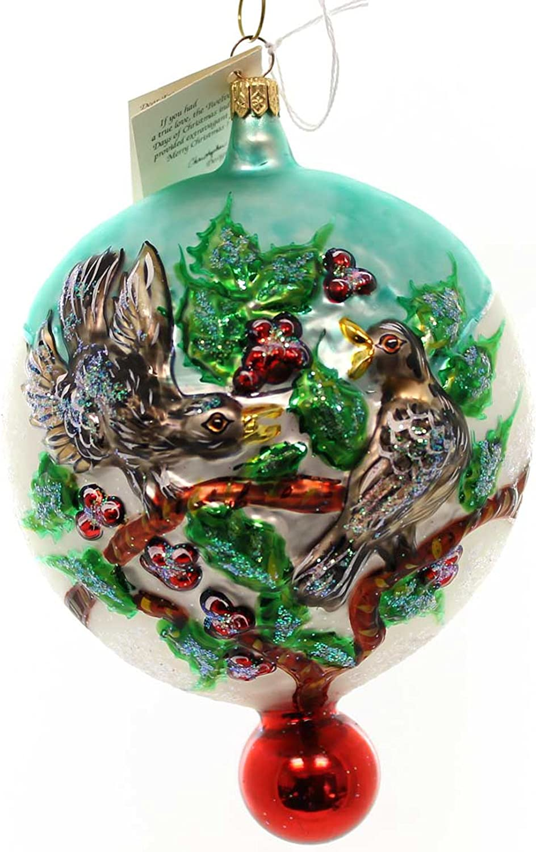 Ranking TOP3 Christopher Award Radko 4 Calling Birds Days Ornament Blown 12 Glass