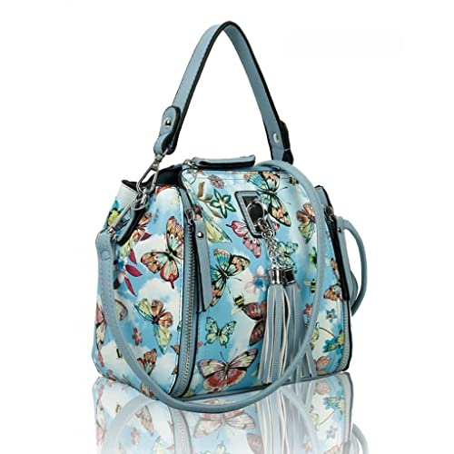 22d49d5fd6d5 LeahWard SMALL Women s Tassel Tote Bag Quality Flower Print Shoulder Bag  Handbags For Party Holiday 817