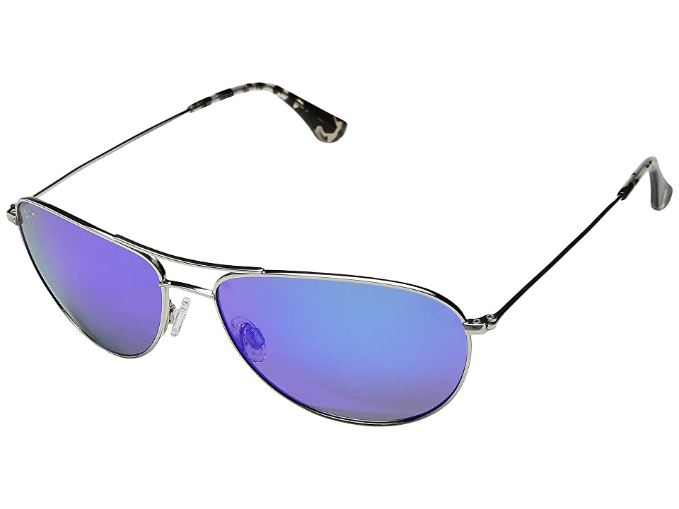 Maui Jim Sea House (Silver/Blue Hawaii) Athletic Performance Sport Sunglasses