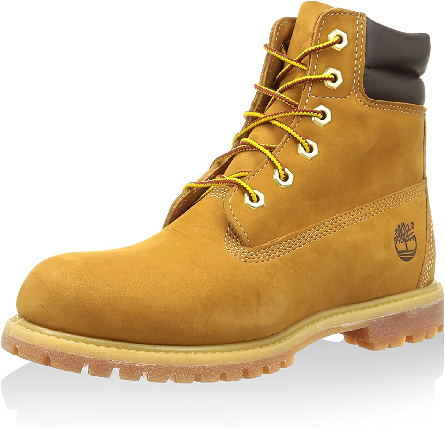 Timberland Womens Waterville 6 Inch Double Collar Boot,Wheat Nubuck/Leather,US