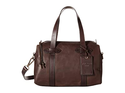 Filson Weatherproof Leather Satchel (Sierra Brown) Satchel Handbags