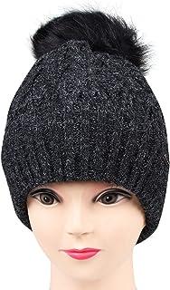 Bongio Winter Women's Black Woolen Cap