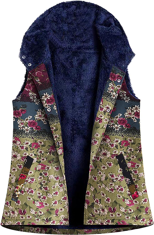 Women Hooded Vest Jacket Winter Floral discount Vintage Fleece Vests Warm Japan's largest assortment