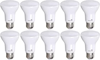 10 Pack Bioluz LED BR20 LED Bulb Dimmable 7w (50w Replacement) 2700K Bright Warm White 550 Lumen Smooth Dimmable Lamp - Indoor/Outdoor UL Listed (Pack of 10)
