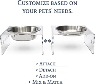 elevated pet feeder with storage