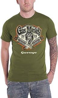 Gas Monkey Garage Spring Coils Hombre Camiseta Negro, Regular