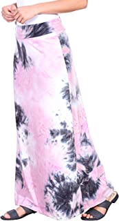 Popana Womens Casual Long Convertible Print Maxi Skirt Plus Size - Made in USA