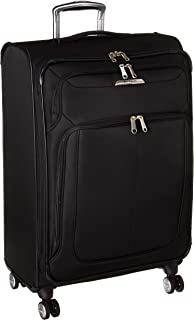 Samsonite Solyte DLX Expandable Softside Checked Bag with Spinner Wheels, 25 Inch, Midnight Black