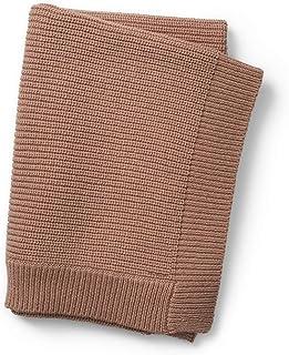 Elodie Details Ull Babyfilt Stickad filt Oeko-Tex/Responsible Wool Standard 75 x 100 cm - Faded Rose, Rosa